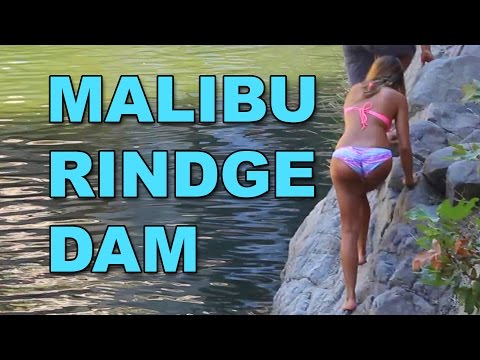 Cliff Jumping at Malibu Rindge Dam - TheLAexplorer