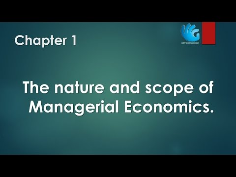 nature and scope of business economics