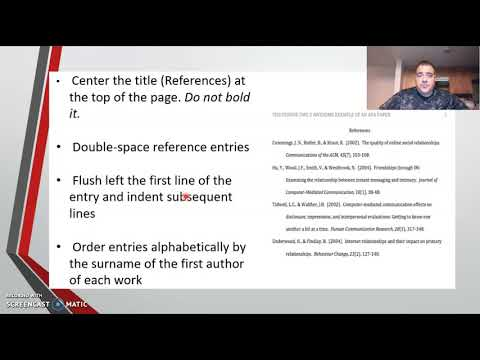 APA 7th Edition video from YouTube · Duration:  13 minutes 59 seconds