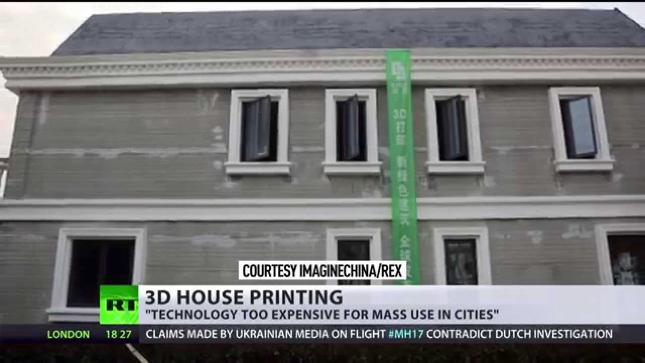 china prints 3d houses districts of luxury villas to appear at push of button youtube. Black Bedroom Furniture Sets. Home Design Ideas