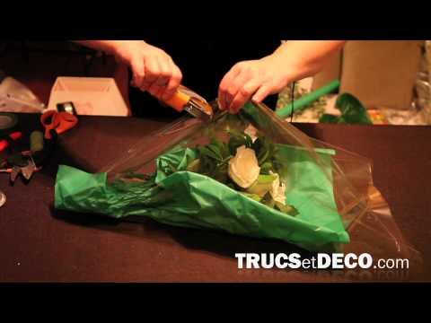 Emballer un bouquet de fleurs comme le fleuriste - Tutoriel par trucsetdeco.com