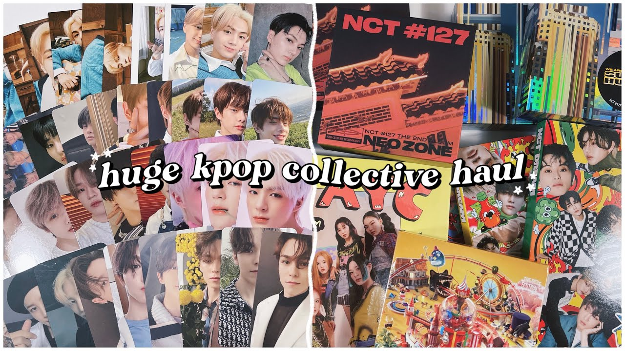 my last kpop collective haul? ✰ lots of albums, kihnos & photocards | nct, enhypen, seventeen, etc