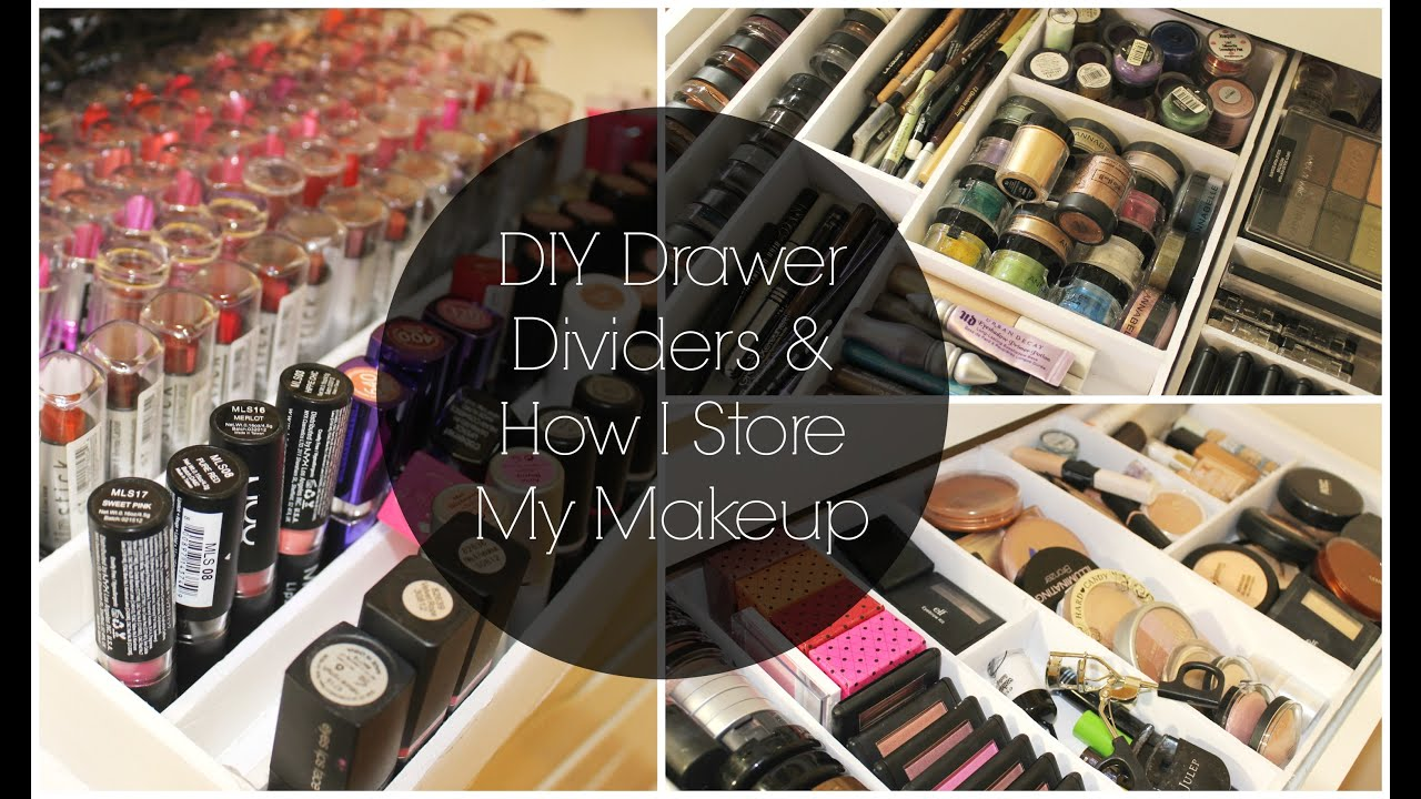 DIY Drawer Dividers & Makeup Collection Storage  {Storage Solutions}   Jessica Joaquin - YouTube