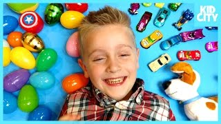 Superheroes IRL Surprise Eggs, Hot Wheels Challenge & Toy Review - Little Flash Picks by KIDCITY