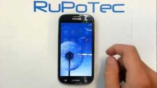 Sichere Displaysperre mit PIN beim Samsung Galaxy S3 Android