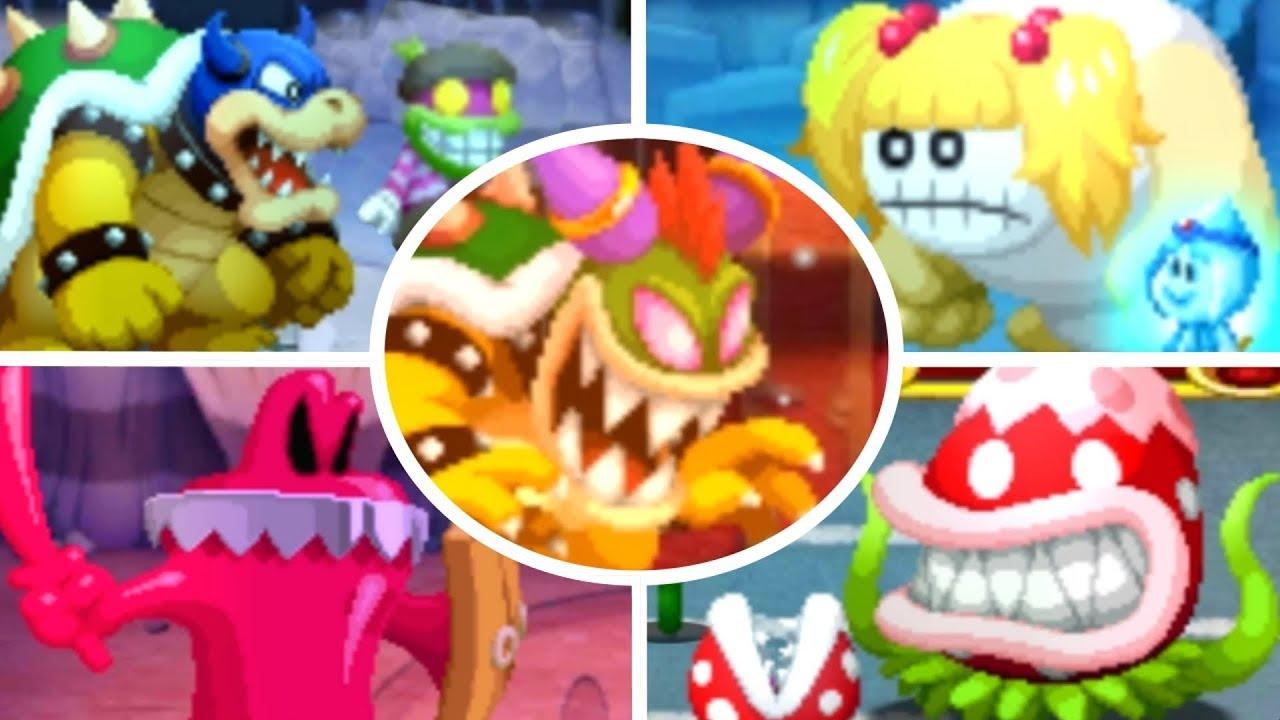 Mario Luigi Superstar Saga 3ds All Bosses No Damage