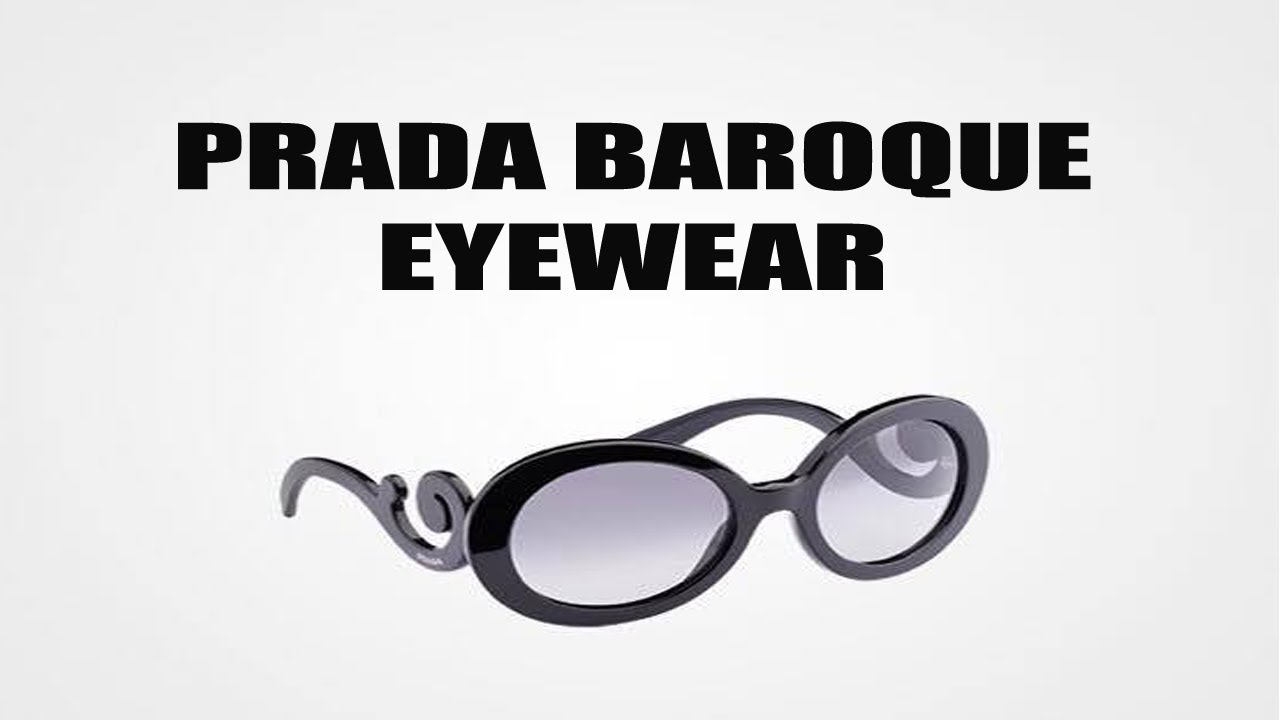 e85e8bcd44ca Prada baroque eyewear unboxing - YouTube