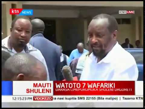 KNH gives an update on children taken there after Precious Talent building collapses