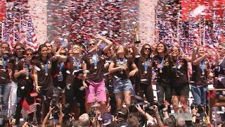 Team USA honored with ticker tape parade in NYC