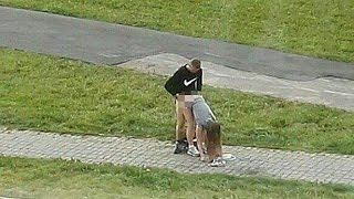 Half naked couple have SEX in middle of pavement in broad daylight