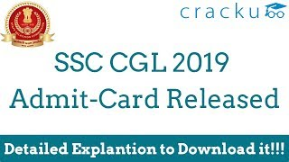 SSC CGL Tier-1 Admit Card Download 2019