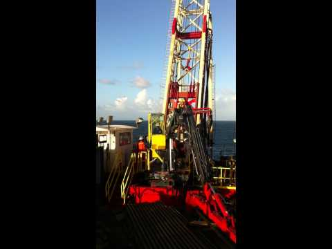 Drilling Slant Hole Oil Well Offshore Trinidad