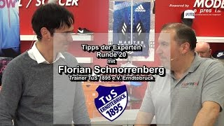 Tipps der Experten mit Florian Schnorrenberg. Trainer TuS 1895 e.V. Erndtebrück. 2017