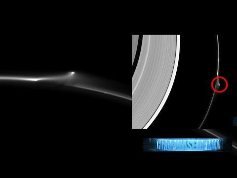 WOW!! SUPER SIZED UFO STAR CRAFT RIPS SATURN'S F-RING!! NASA PROOF!! 6/20/2016