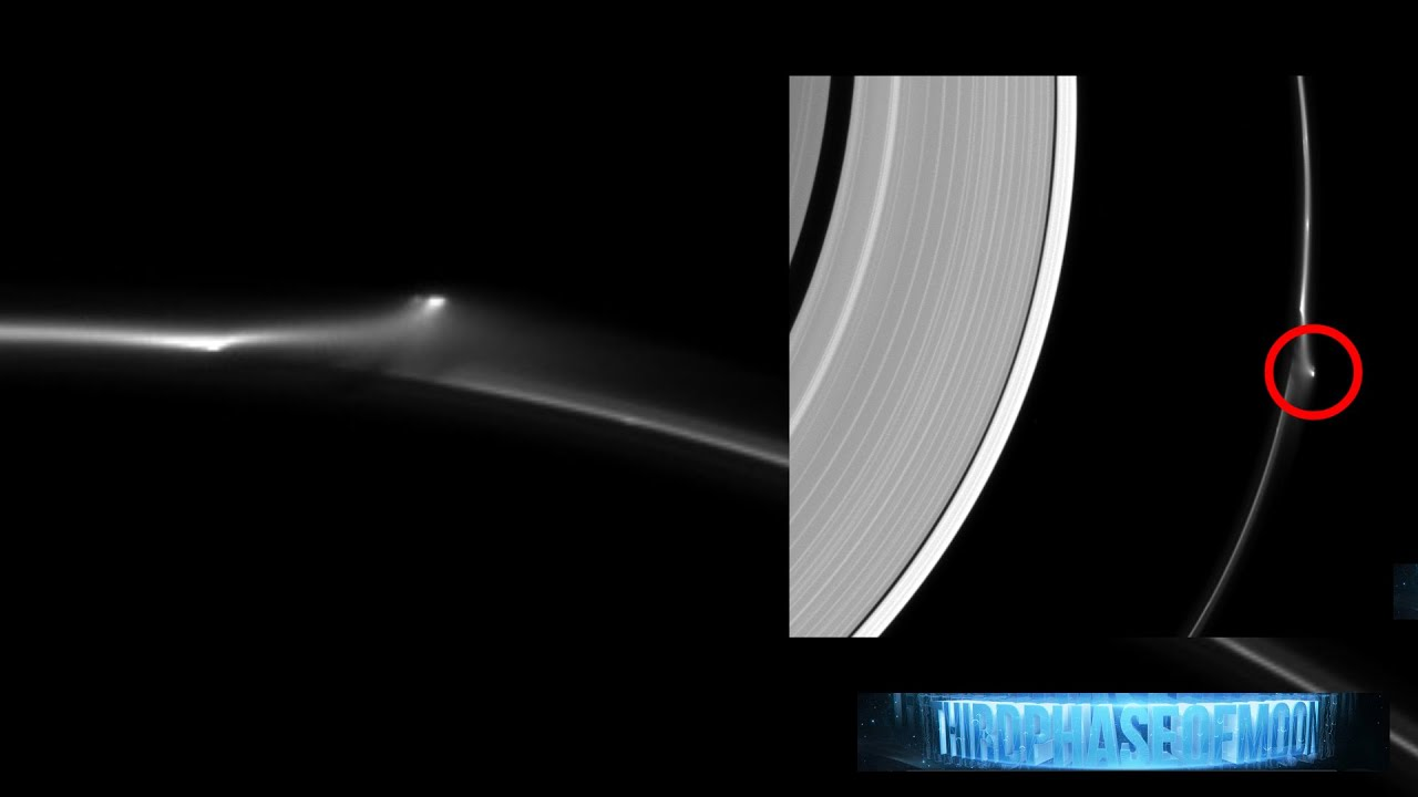 WOW!! SUPER SIZED UFO STAR CRAFT RIPS SATURN'S F-RING ...