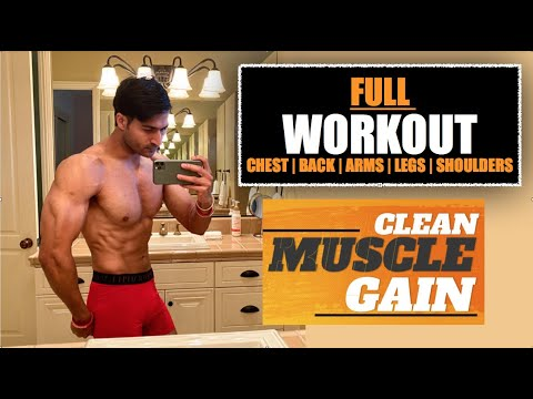 Complete Workout Plan for CLEAN MUSCLE GAIN program by Guru Mann