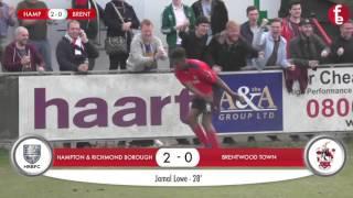 Hampton & Richmond Borough 5-1 Brentwood Town   Match Highlights