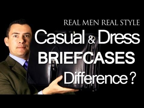 Men's Leather Briefcases - Difference Between Casual & Dress Business Briefcase - Leather Bag Advice