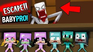 PRO-BABY ( ESCAPE IN SCP TEMPLE ) - MONSTER SCHOOL BECAME BABY PRO  - MINECRAFT ANIMATION