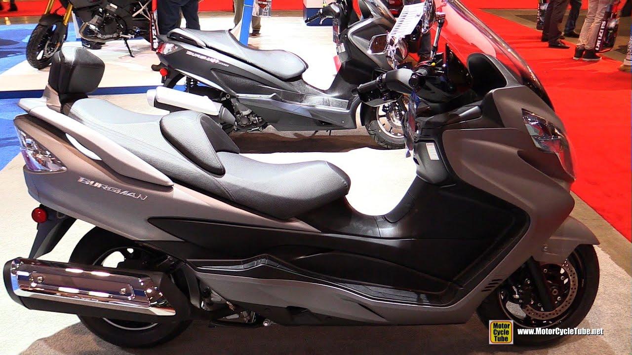 2016 suzuki burgman 400 walkaround 2016 toronto motorcycle show youtube. Black Bedroom Furniture Sets. Home Design Ideas
