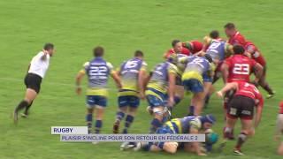Rugby : Plaisir s'incline pour son retour en Fédérale 2