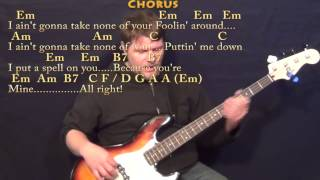 I Put A Spell on You (CCR) Bass Guitar Cover Lesson with Chords/Lyrics