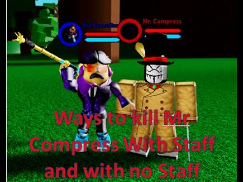 Boku No Roblox Remastered Event Roblox Ways To Kill Mr Compress With Or Without Staff