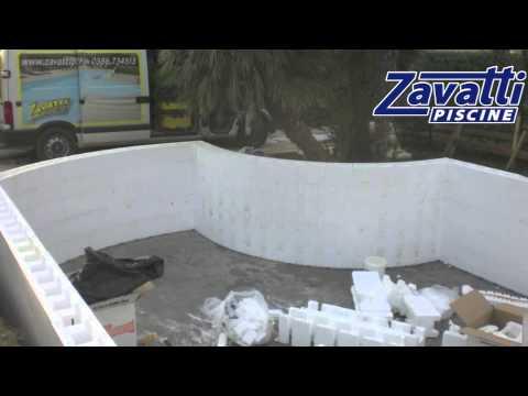 Costruzione piscina su misura interrata con cassero in polistirolo easyblok youtube - Costruzione piscina interrata ...