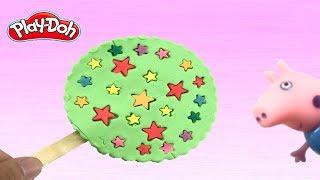 How to make cream  Lollipop cake playdoh for Peppa pig ไอศครีมแป้งโดว์และตัวเลข |ของเล่นเด็ก