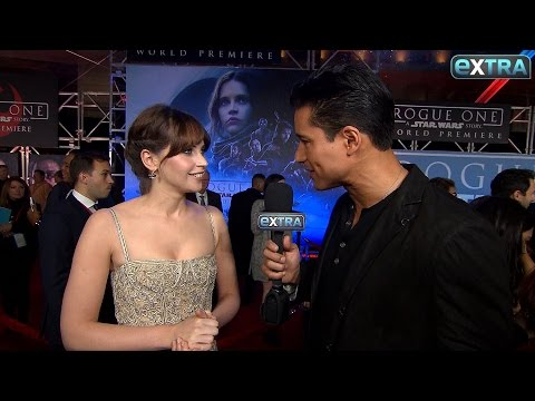 'Rogue One' Premiere: Felicity Jones Reveals Her Initial Reaction to Darth Vader