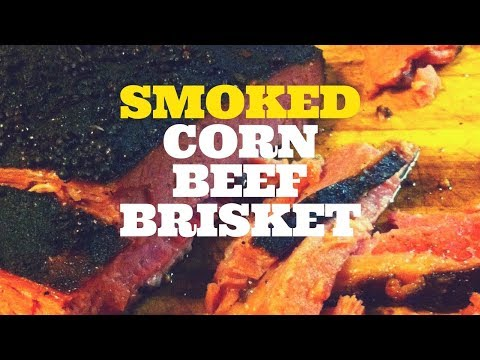 BBQ Smoked Corned Beef Brisket on the Weber Kettle Grill with the Slow 'N Sear