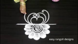 latest kolam rangoli    beautiful free hand muggulu    easy Indian arts