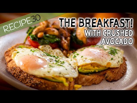 This is the breakfast you want! (with avocado)