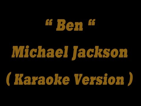 Ben - Michael Jackson (Karaoke Version) HQ Audio