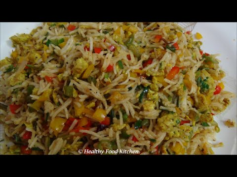 Egg Fried Rice Recipe - Variety Rice Recipe By Healthy Food Kitchen