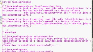 6 Advanced java |JDBC Type1 Driver|Connection is interface/class | Connection object adv java
