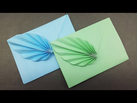 Easy Origami Envelope Making Tutorial - DIY Paper Envelope with Leaf