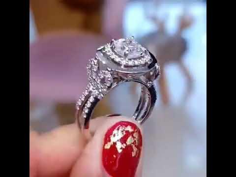 แหวนเพชรแอชเชอร์คัตน้ำ 100 D color 1.00 กะรัต