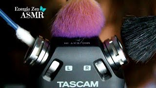 asmr binaural intense ear cleaning ear brushing no talking