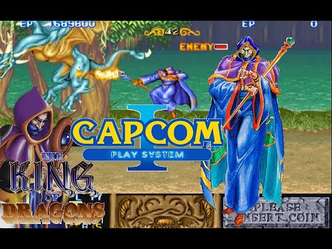 The King of Dragons (arcade) Wizard Hardest no death Playthrough
