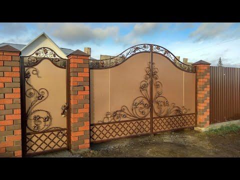 Ворота с элементами ковки. Как мы делаем ворота.