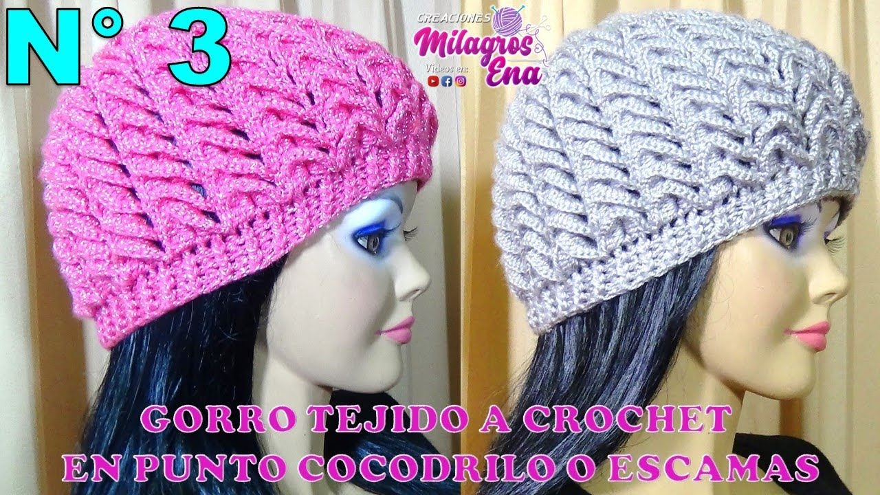 Gorro Tejido A Crochet Para Niñas Señoritas Y Señoras En Punto