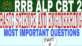 Basic Science And Engineering (PART 4) FOR RRB ALP CBT 2