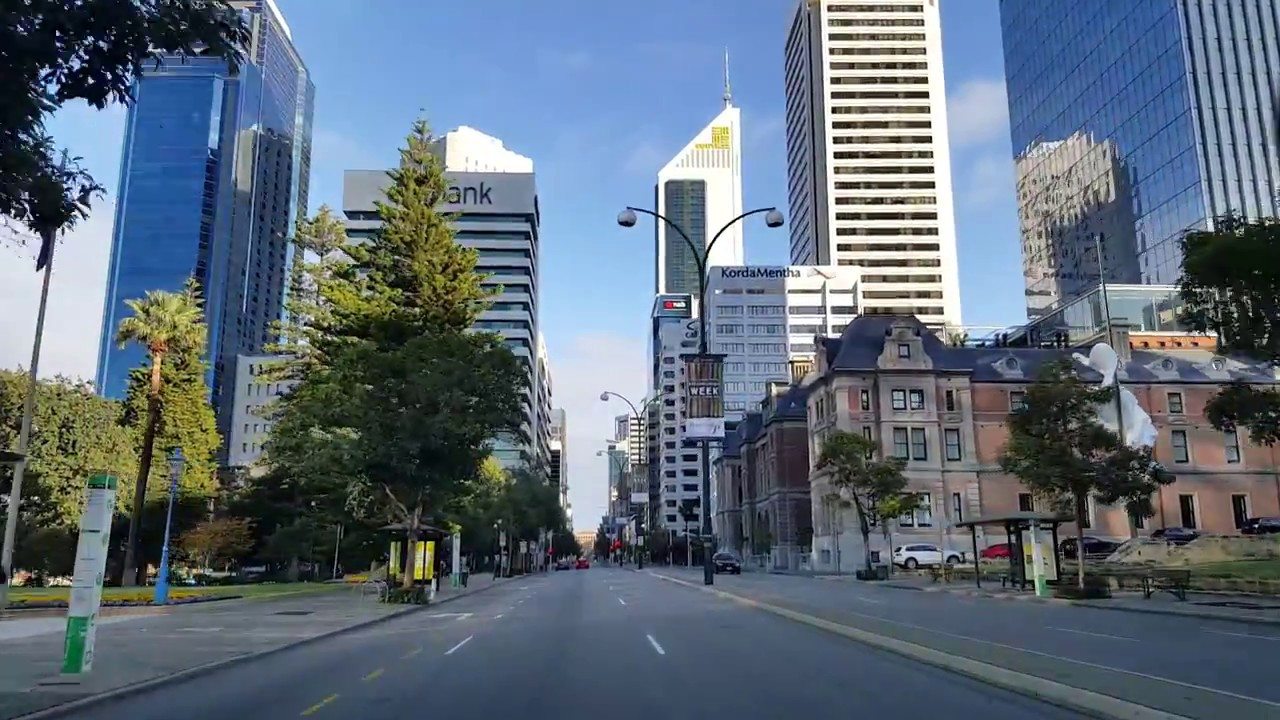 St Georges Terrace Perth - YouTube