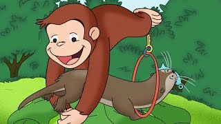 Curious George  We Otter Be Friends Compilation HD  Cartoons For Children