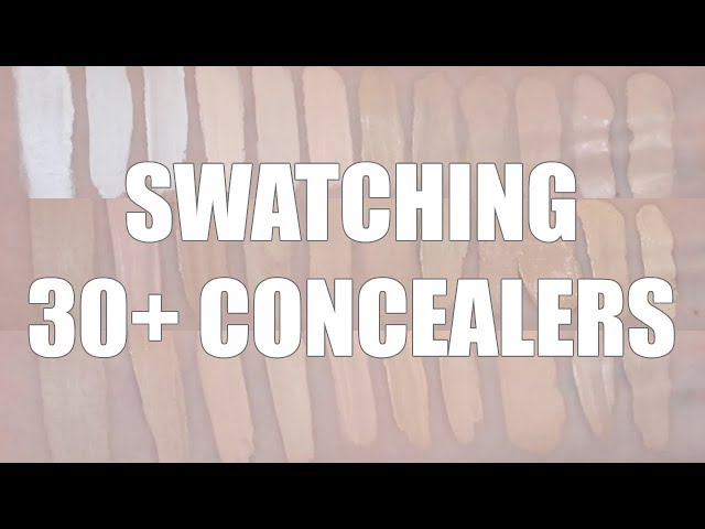 SWATCHING ALL MY CONCEALERS | Fair Skin Concealer Swatches ...