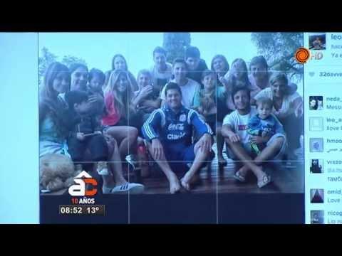 Messi ya está en Argentina, mirá la foto junto a su familia.
