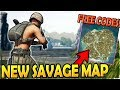 PUBG *NEW* SAVAGE MAP (4x4)- How to Play PUBG UPDATE + TONS of FREE CODES - PUBG Savage Map Gameplay