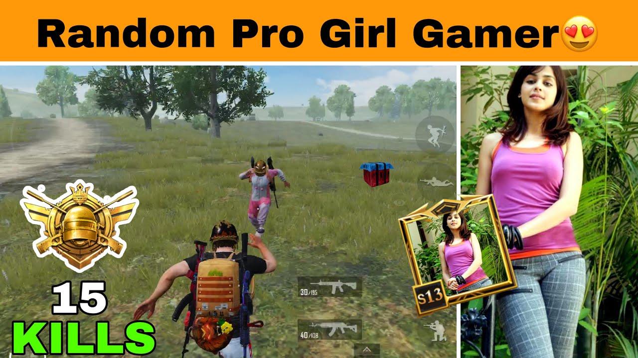 Chicken Dinner With Random Pubg Pro Girl Gamer 😋 | Amazing Pubg Mobile Gameplay