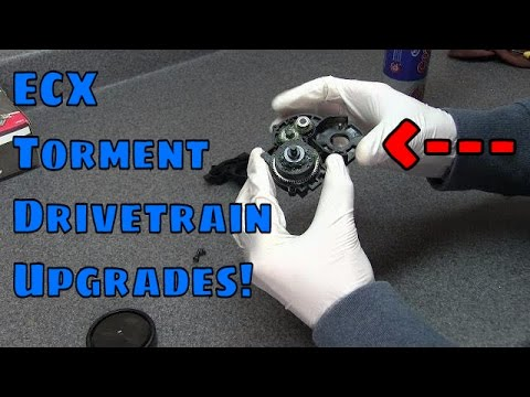 ECX Torment 2wd Transmission and Driveshaft Upgrades